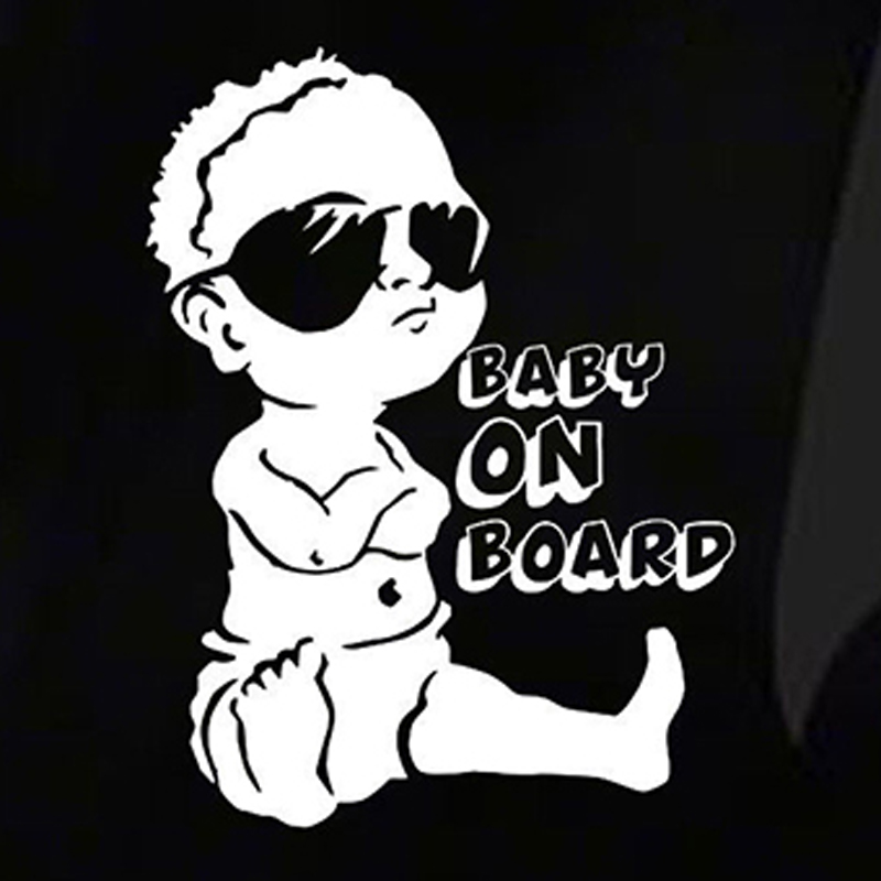 Baby on board car sticker window decal exterior car styling Lovely Funny JDM Car Sticker for Window Bumper Cute Vinyl Decal hotmeini 60cm 14cm endless nights japanese kanji stance windshield jdm for bmw mugen car decal sticker big car sticker