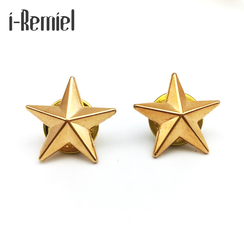 Brooches Hot Sale Real Pin 2017 Hijab Broches High-end Brooch Badge Little Star For And Blouses Five-pointed Couples Jewelry