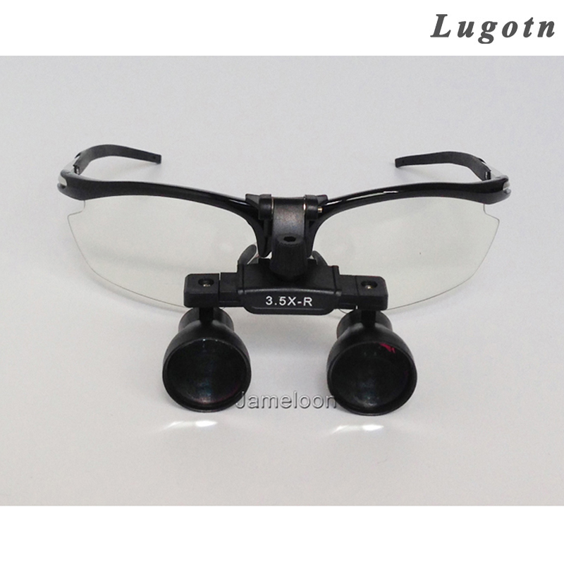 3.5X magnify medical dental loupe aluminium alloy frame shortsighted glass available surgical magnifier long working distance цена