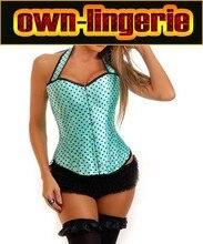 Sexy neck halter small polka dots corset tops,hot sale corset women's clothing intimates shaper straps corset w3245
