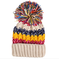 2016 Chapéus das Mulheres Coloridas de Inverno Quente Tampas De Malha skullies & gorros Chapéus para As Mulheres