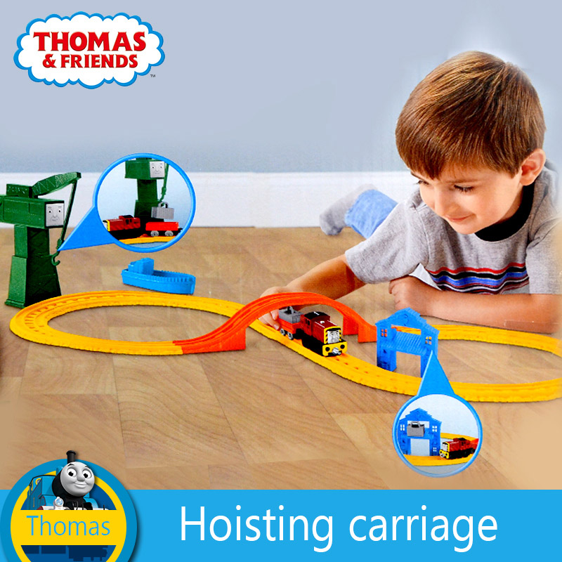 Original Thomas and friend's model car children's toy celti at the dock alloy series track set BHR95 boys train toys
