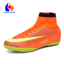 Fly indoor futsal soccer boots sneakers men Cheap soccer cleats superfly original football shoes ankle boots high top size 39-46