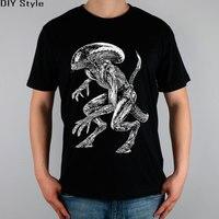 AVP ALIEN VS Predator T Shirt Top Pure Cotton Men T Shirt New Design High Quality