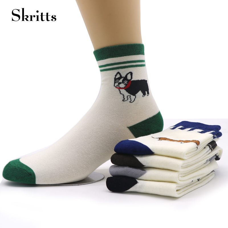 Skritts Cute Women Cartoon Socks for Girls Winter Sock Warm Compression Short Ankle Socks Art Animals Pattern Socks Funny 5 Pair