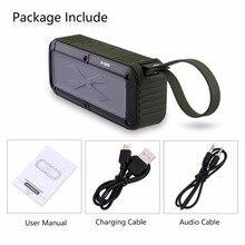 W KING S20 Loundspeakers IPX6 Bluetooth Speaker Portátil NFC Bluetooth Speaker À Prova D Água para Ao Ar Livre/Chuveiro/Bicicleta Rádio FM