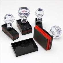 DIY personalized custom photosensitive seal LOGO production Rectangular Crystal Photosensitive Seal 4mm Thick Office supplies.
