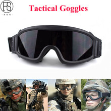 Military Tactical Goggles Airsoft Glasses Paintball Shooting Wargame Army Sunglasses Men Motorcycle Windproof Protection