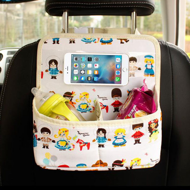 Auto Backseat Car Organizer Phone Holder Baby Kids Safety Seats Multi-Pocket Travel <font><b>Accessories</b></font> Storage Hanging Bag