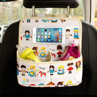 Auto Back Car Seat Organizer Holder Baby Kids Safety Seats Car Multi Pocket Travel Ipad Storage