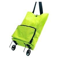 FGGS Lightweight Foldable Shopping Trolley Wheel Folding Bag Traval Cart Luggage HOT