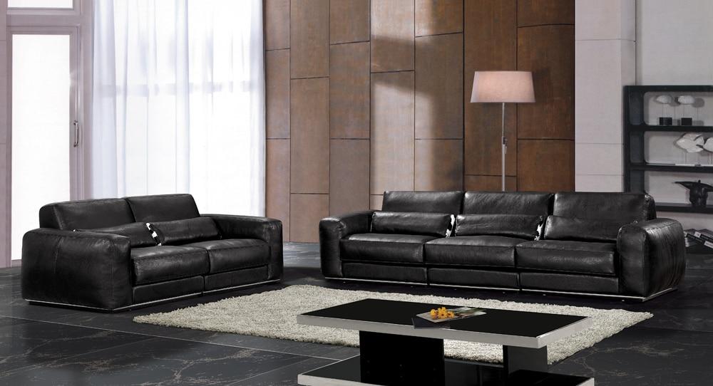 Heisser Verkauf Moderne Chesterfield Echtes Leder Wohnzimmer Sitzgruppe Mbel Schwarz Vollleder Feder Innerhalb