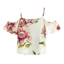 Womens Tops and Blouses Summer Chiffon Print blusas Sexy off shoulder Tops Ladies V Neck Blouse Shirts blusas mujer de moda 2018