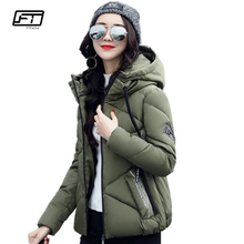 Fitaylor Winter Casual Jacket Women 2017 New Short Paragraph Womens Down Jackets Thick Cotton Coat Fashion Hooded Parka Mujer