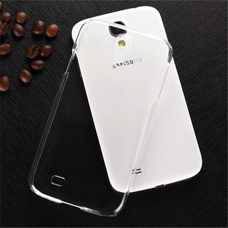 New!!0.3mm Slim Ultra Thin Colorful Transparent phone Case for samsung galaxy s4 mini i9195 i9192 Plastic Clear Back Cover
