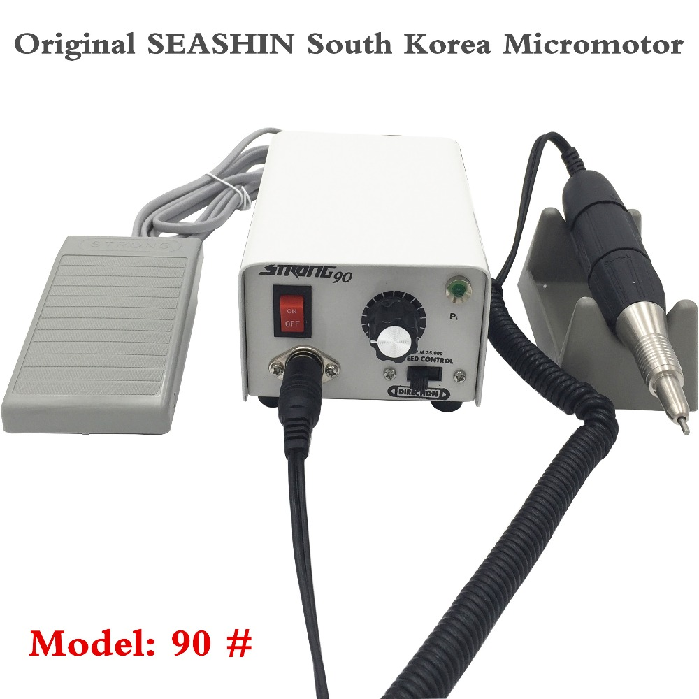 Jewellery Engraving Nail polishing Dental Lab Micromotor - Original Korea SAESHINE Strong 90 with handpiece high quality dental finishing and polishing discs polishing strips mandrel set dental supplies resin filling material