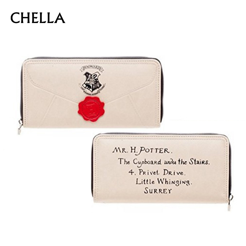 Women Wallet Harry Potter Letter PU Leather Fashion Female Wallets Zipper Around Long Lady Clutch Coin Purse Card Holder PC0056 fashion women leather wallet female long card holder big stone wallets casual clutch zipper coin purse