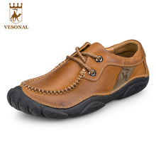VESONAL Driving Brand Genuine Leather Casual Male Shoes Men Footwear Adult 2017 Spring Autumn Comfortable Soft Driving For Man