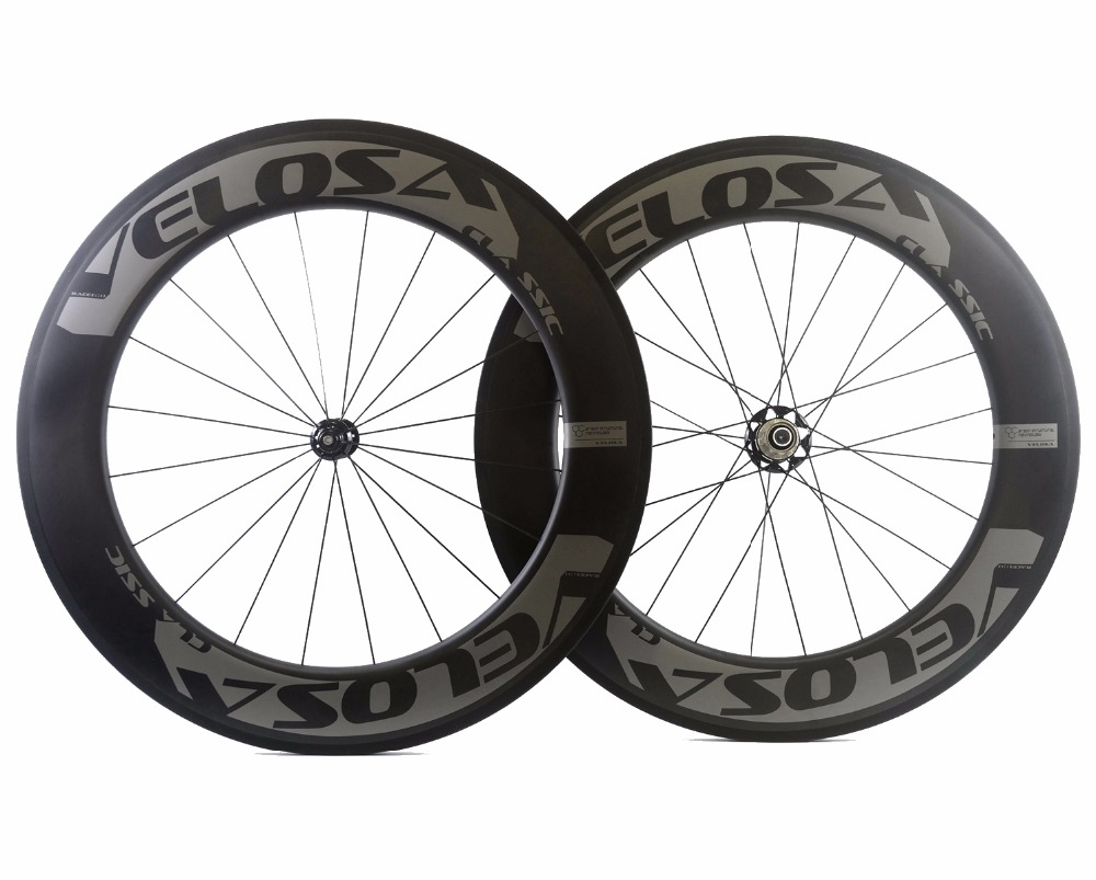 VELOSA! Freeshipping 700C 88mm depth Road carbon wheels 25mm width Clincher/Tubular bike carbon wheelset with Powerway R51 hub carbon wheels 700c 25mm width 38mm clincher racing bicycle wheels road bike carbon wheelset clincher with powerway r51 hub