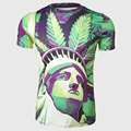 Men Novelty T Shirts 3D Liberty Print O Neck Tee Tops Summer Short Sleeve America LA Style Streetwear Teens