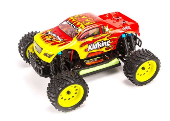 HSP Rc Car 1/16 Electric Power Remote Control Car 94186 RTR 4WD Off Road Monster Truck KidKing Similar HIMOTO REDCAT Hobby Car 02023 clutch bell double gears 19t 24t for rc hsp 1 10th 4wd on road off road car truck silver