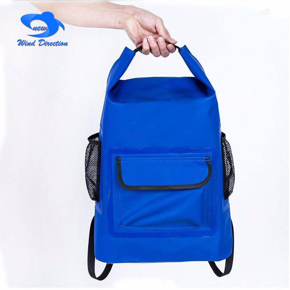 20L outdoor camping PVC waterproof backpack swimming upstream mountain climbing bag camping surfing fishing drift isolation bag acecamp outdoor sports waterproof dry floating bag for fishing surfing camping blue 20l