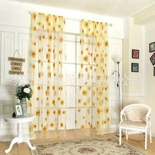 Foreign trade hot new products Big flower sun offset printing screens Home textile multi-color optional Customizable curtain pro
