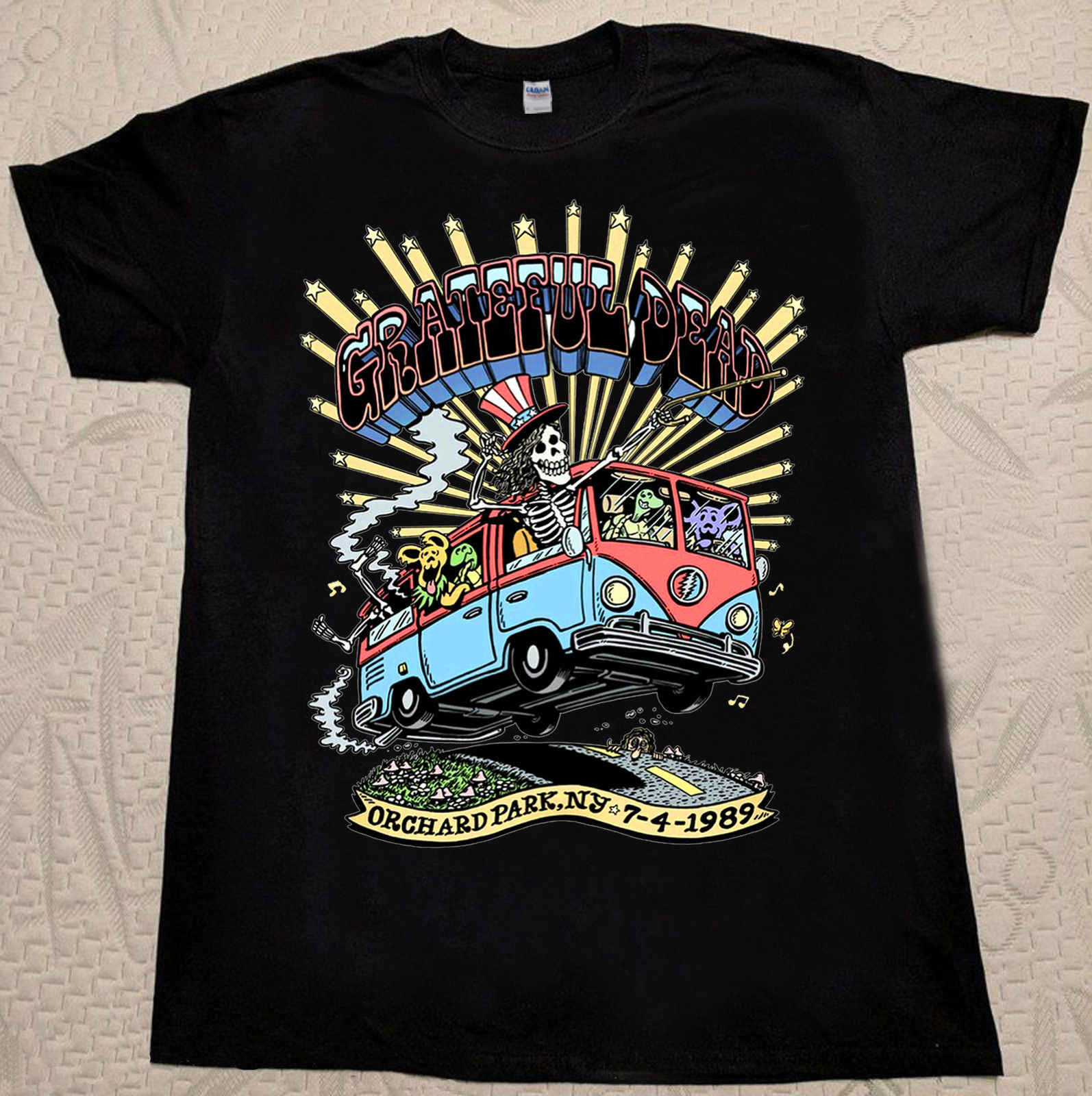 VINTAGE 1989 Grateful dead Orchard Park,Ny Tour T-Shirt  REPRINT T shirt printing,100% Cotton Classic tee 2019 hot tees