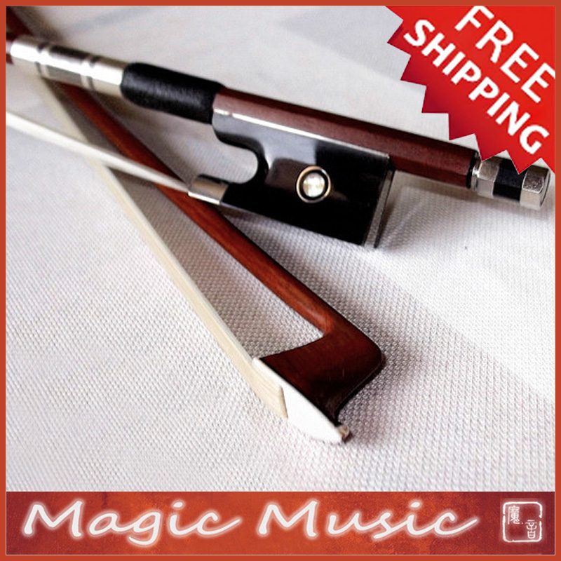 Free Shipping Top Quality PERNAMBUCO Violin Bow with Black Horn Frogs Size 4 4 Quick Response