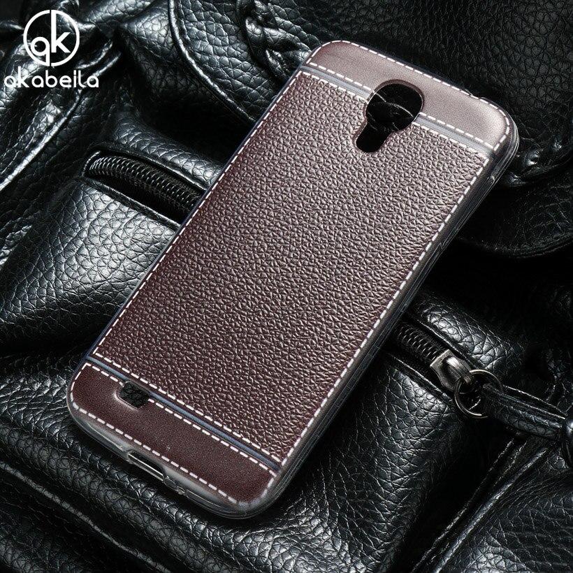 AKABEILA <font><b>Phone</b></font> <font><b>Case</b></font> For Samsung I9500 Galaxy S4 SIV I9505 GT-I9500 S4 CDMA SCH-I545 5.0 inch Litchi <font><b>Silicone</b></font> Cover
