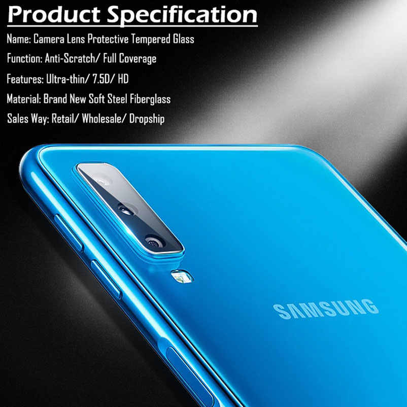 Back Camera Lens screen protector tempered glass For Samsung galaxy S8 Plus S7 S6 edge Plus J4 J6 J8 2018 film case full cover