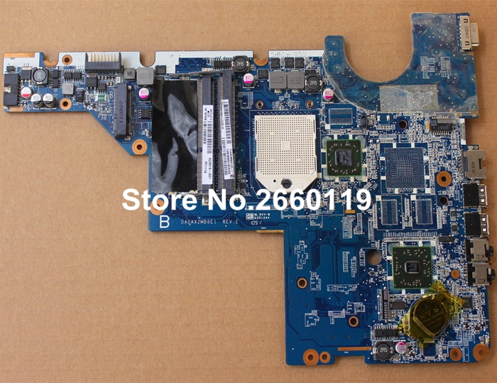 laptop motherboard for HP 623915-001 DA0AX2MB6E1 system mainboard, fully tested a8se motherboard tested by system laptop case
