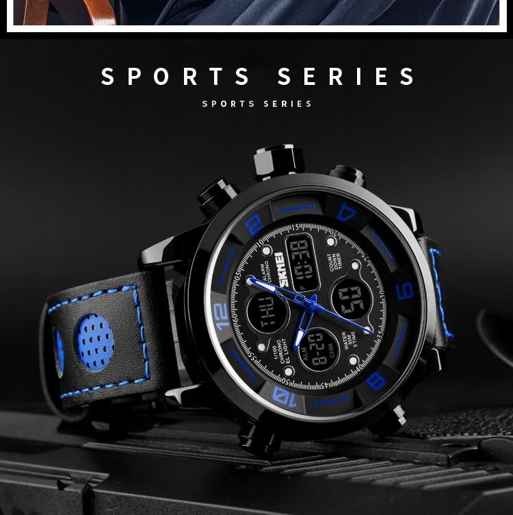 SKMEI 2019 Men\`s Wrist Watches Top Brand Luxury Watch Men Sports Leather Watches Business Digital Watch For Men reloj hombre (6)