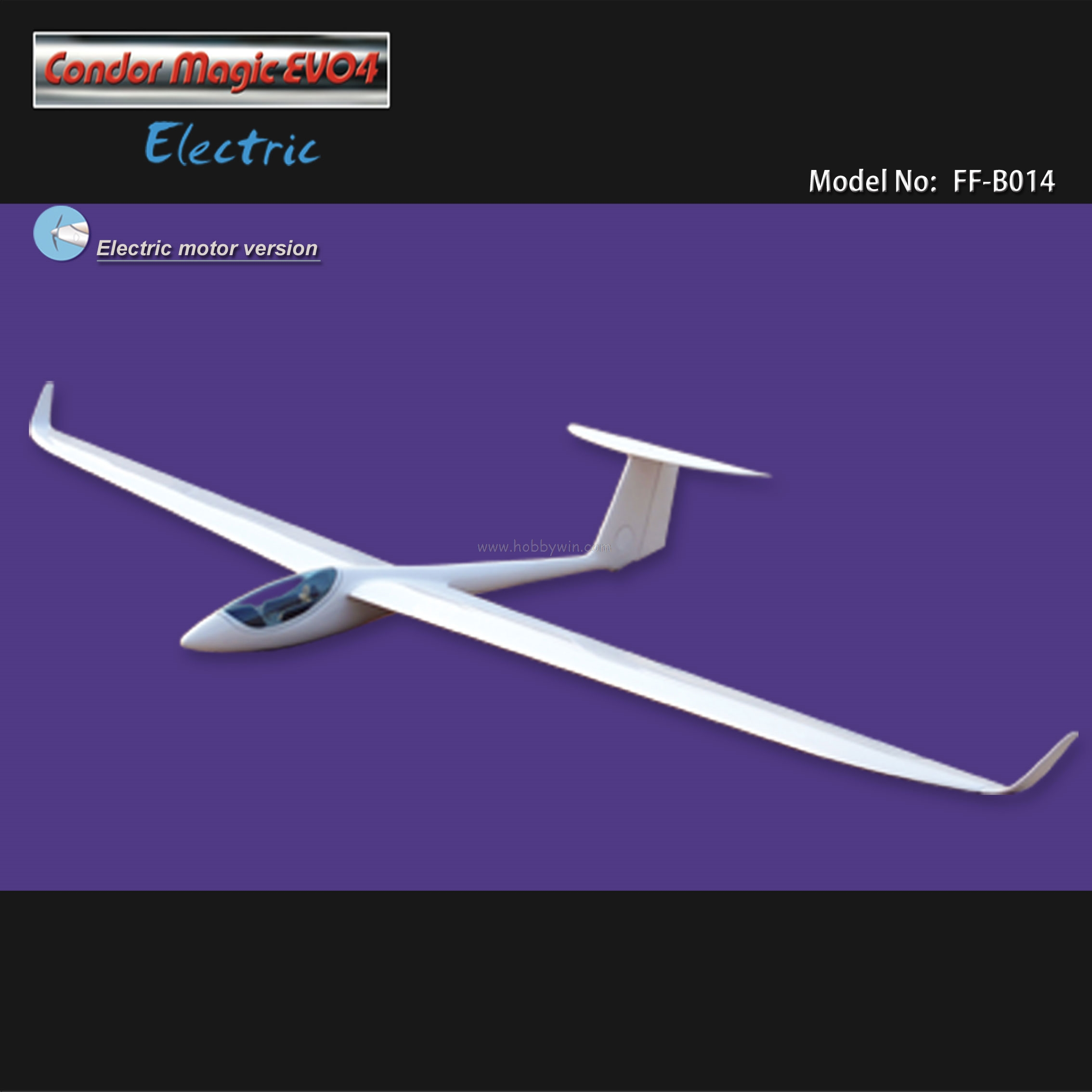Condor magic evo4 electric glider 3000mm arf with motor for Model airplane motors electric