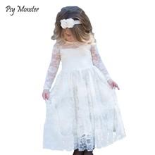 b7cf35c98d Marka Nowy Flower Girl Dresses Ivory Prawdziwe Party Korowód Komunia  Birthday Party Dzieci Dziewczyny Druhna Maluch