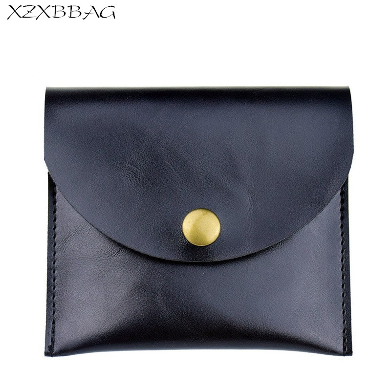 XZXBBAG Unisex Hasp Mini Coin Purse Female Mini Thin Short Wallets Men Vintage Simple Card Bag Small Money Bag Change Package