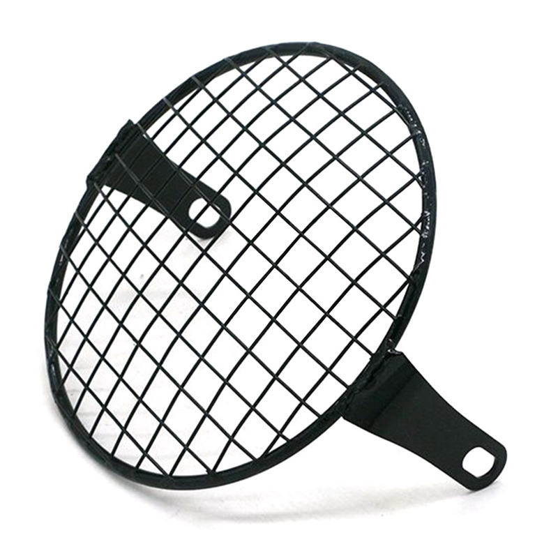 Universal 7inch Motorcycle Headlight Mesh Grill Mask Headlamp Protector Guard Square/Rhombus Cover