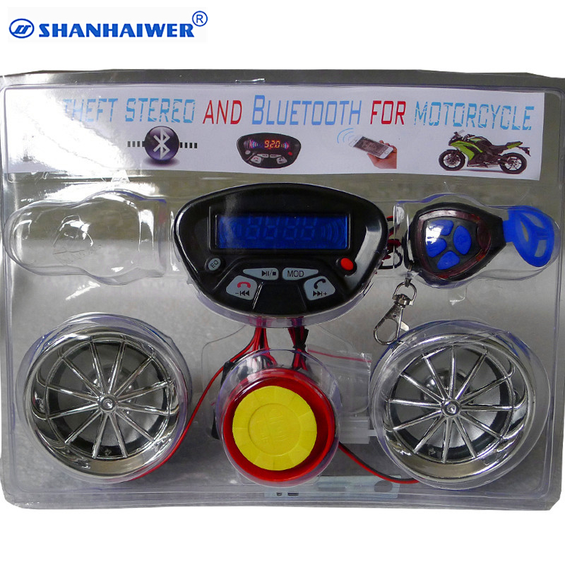 2 Ways Motorcycle Anti Theft Security Alarm System With