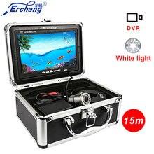 Erchang Подводные видеокамеры для рыбалки Камера DVR Рыболокаторы 7 ''1000TVL HD 15 м Профессиональный подледной рыбалки Камера