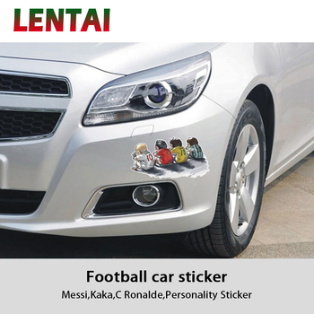 LENTAI Cartoon Car Headlight Body Stickers Football Stars Styling For BMW E60 E36 E46 E90 E39 E30 F30 F10 F20 X5 E53 E70 E87 E34 image