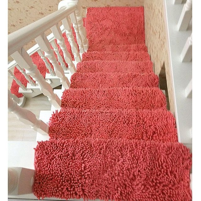 Newly 1 Piece Stair Case Carpet Tread Mat Step Rugs Stair Mats Pads Home  Hotel Stairway