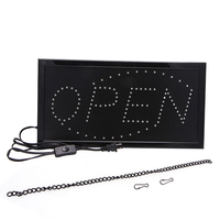 110V Bright Animated Motion Running Neon LED Business Store Shop OPEN Sign