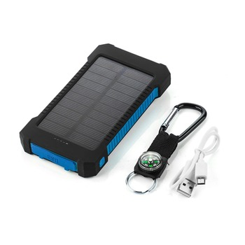 Top Sell Solar Power Bank Waterproof 20000mAh Solar Charger 2 USB Ports External Battery Charger Phone Poverbank with LED Light 5
