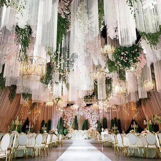 Venue Decorations: Aliexpress.com : Buy Wedding Tassel Curtain Chandelier