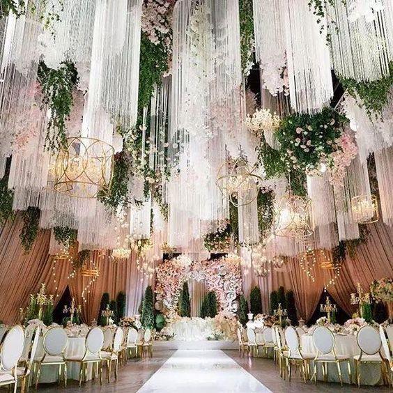 Beautiful Wedding Decoration Ideas: Aliexpress.com : Buy Wedding Tassel Curtain Chandelier