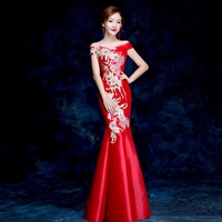 2018 Modern Cheongsam Sexy Qipao Women Long Traditional Chinese Dresses Oriental Wedding Gowns Evening Dress Robe Orientale