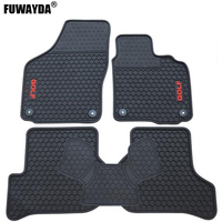 New Car Antislip Slush Rubber Rear Row Floor Mats Pad Liner Carpets right hand Drive For VW Volkswagen Golf 6 Golf 7 GTI MK7