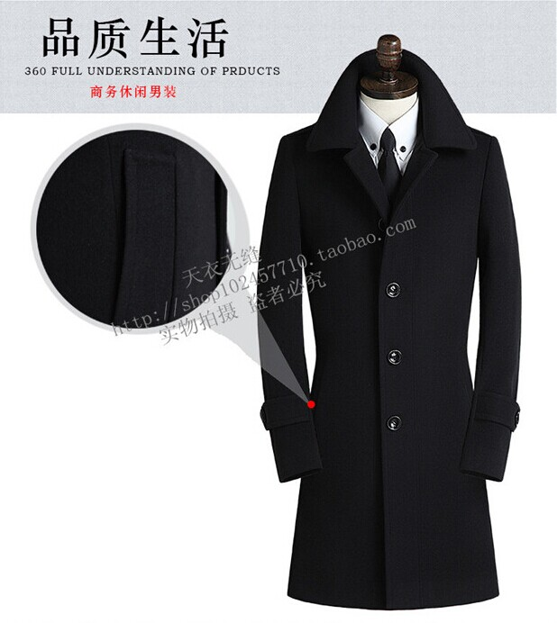 Winter Men Wool Coat Long Warm Trench Hood Big Size 4xl Men s Winter Jackets Thick