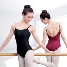 เซ็กซี่เปิดกลับ Camisole บัลเล่ต์ Leotards ผู้ใหญ่สาวผ้าฝ้าย Spandex ยิมนาสติก Leotard Ballerina Bodysuit