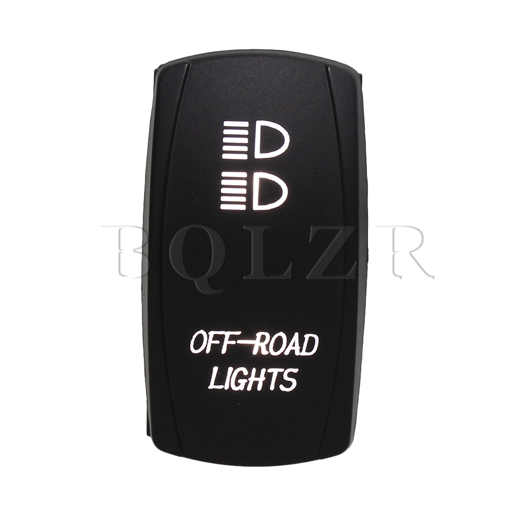 BQLZR 7pin Waterproof IP68 ON-OFF-ON Rocker Switch White Off-Road Lights DC12-24V bqlzr dc12 24v black push button switch with connector wire s ot on off fog led light for toyota old style